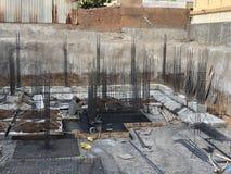 Plats för konstruktion för byggnadsstruktur base byggnad arkivfoton