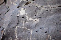 Plats för LaCieneguilla Petroglyph - Santa Fe, NM royaltyfria foton