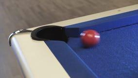 plats för lek för billiardbiljardklubba Amerikansk biljard lager videofilmer