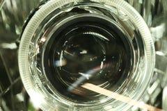 Plats för Lens projektorbillykta Arkivbilder