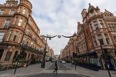 Plats för London stadsgata Arkivfoto