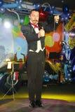 Plats för Maestro Magician Illusionist Does Show inredesign Royaltyfria Bilder