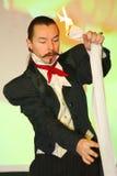 Plats för Maestro Magician Illusionist Does Show inredesign Royaltyfri Bild