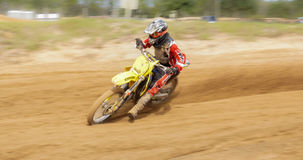 Plats för motocrossDirtbike handling Royaltyfri Foto