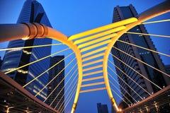 plats för natt för bangkok byggnadsstad Fotografering för Bildbyråer