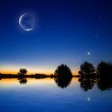 Plats för nattsky Royaltyfri Foto