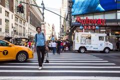 Plats för New York City MidtownManhattan gata arkivbild
