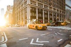 Plats för New York City MidtownManhattan gata arkivfoto