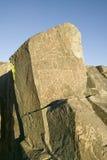 Plats för Petroglyph för tre floder nationell, byrå för a (BLM) av landledningplatsen, särdrag en Thunderbird, en av mer än Nat 2 Arkivbilder