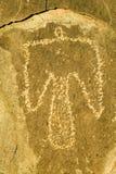 Plats för Petroglyph för tre floder nationell, byrå för a (BLM) av landledningplatsen, särdrag en Thunderbird, en av mer än Nat 2 Arkivfoto