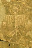 Plats för Petroglyph för tre floder nationell, byrå för a (BLM) av landledningplatsen, särdrag indierpe för mer än 21.000 indian Royaltyfri Fotografi