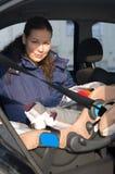 plats för säkerhet för bilbarnmoder Royaltyfria Foton