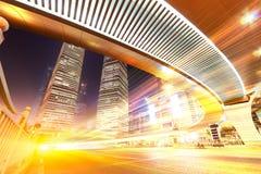 Plats för Shanghai stadsnatt Royaltyfri Foto
