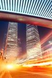 Plats för Shanghai stadsnatt Royaltyfria Bilder