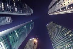 Plats för Shanghai stadsnatt Arkivbilder