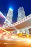 Plats för Shanghai stadsnatt Royaltyfria Foton