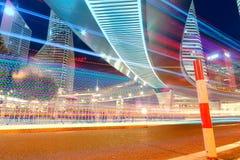 Plats för Shanghai stadsnatt Arkivbild