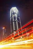 Plats för Shanghai stadsnatt Arkivfoto