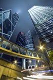 plats för stadsHong Kong modern natt Royaltyfri Bild