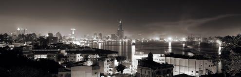 plats för stadsnattpanorama fotografering för bildbyråer