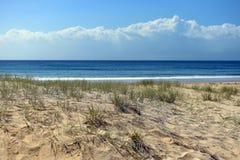 Plats för strand för förgrund för sanddyn Arkivfoton