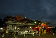 Plats f?r Thean Hou tempelnatt arkivfoton