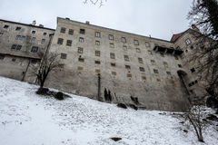 Slott av Cesky Krumlov Arkivfoton