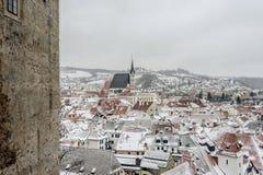 Stad av Cesky Krumlov Fotografering för Bildbyråer