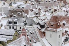 Stad av Cesky Krumlov Royaltyfri Fotografi