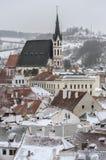 Stad av Cesky Krumlov Arkivfoto