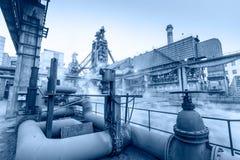 Plats för utrustning för rörledning för Hangzhou järn- och stålväxt fotografering för bildbyråer