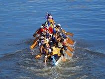Plats från Dragon Boat Races 2015 i Taiwan fotografering för bildbyråer