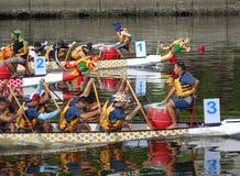Plats från Dragon Boat Races 2015 i Taiwan arkivfoto