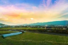 Plats från outskirten av Osaka Arkivbild