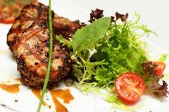 Plats gastronomiques, viande de restaurant Photo libre de droits
