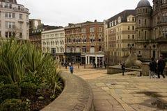 Plats i Birmingham stadsmitt Fotografering för Bildbyråer