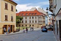 Plats i Bratislava, Slovakien Royaltyfria Bilder