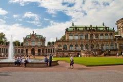 Plats i Dresden, Tyskland Arkivbilder