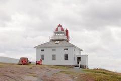 Plats Kanada för NL för uddespjutfyr historisk Arkivbild