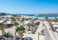 Plats nära Marseille port Arkivfoto