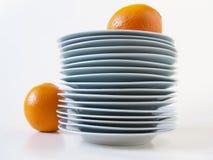 Plats_and_orange Royalty Free Stock Image