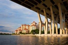 plats stads- singapore Arkivbilder