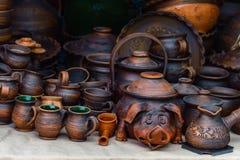 Plats ukrainiens de céramique image libre de droits