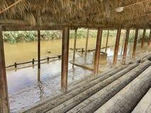 Plats Yardenit på Jordanet River royaltyfria bilder