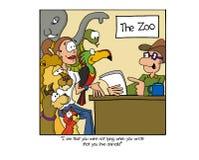 Platsansökan för den lokala zoo vektor illustrationer