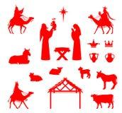 Platsen av behandla som ett barn Jesus i krubban Royaltyfria Foton