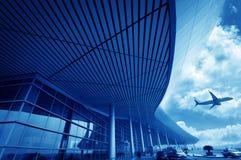 Platsen av byggnad för flygplats T3 i det beijing porslinet. Royaltyfri Fotografi