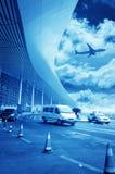 Platsen av byggnad för flygplats T3 i det beijing porslinet. Royaltyfri Foto