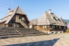 Platsen av festivalen Kustendorf i Drvengrad, Serbien Royaltyfri Foto