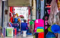 Platsen av flerfaldiga shoppar fotografering för bildbyråer